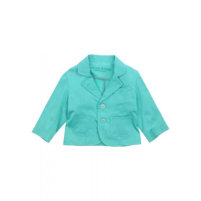 Image for Turquoise cotton blazer