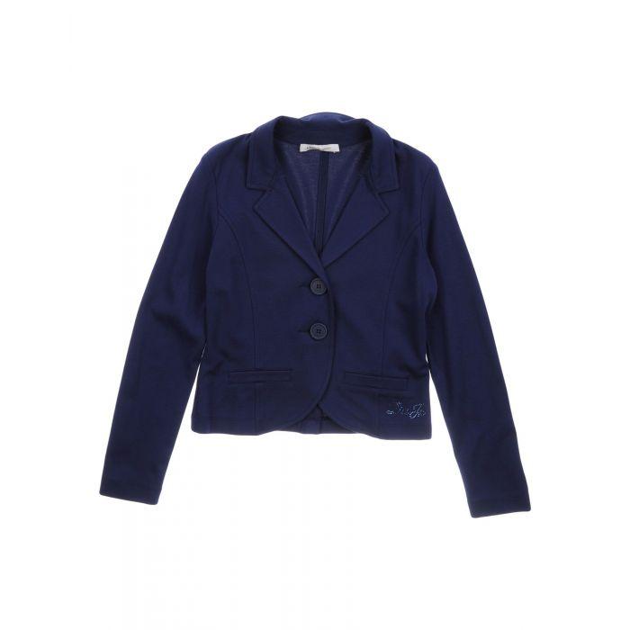 Image for Dark blue viscose blazer