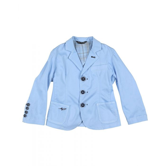 Image for Sky blue cotton blazer