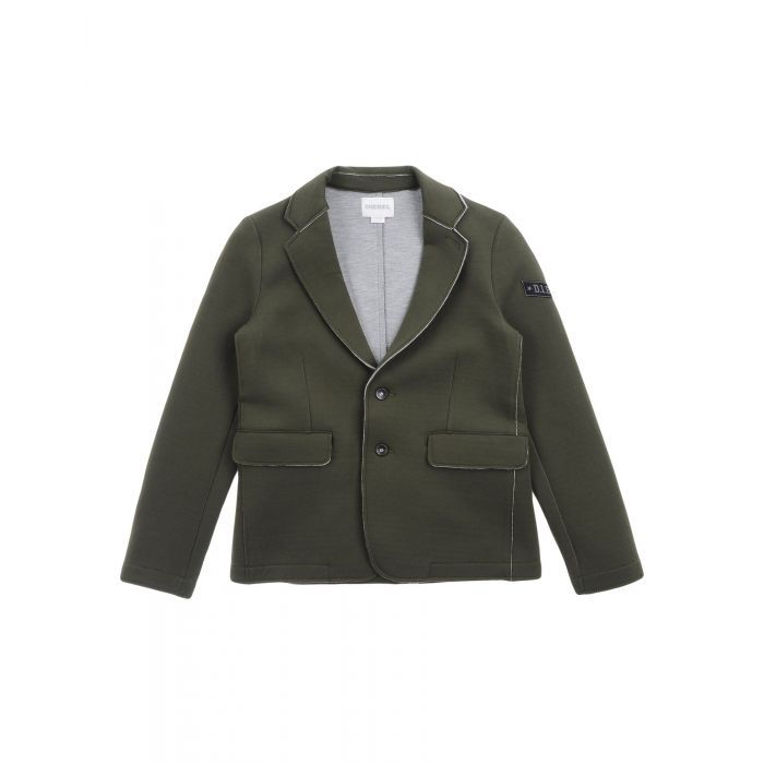 Image for Black and military green blazer