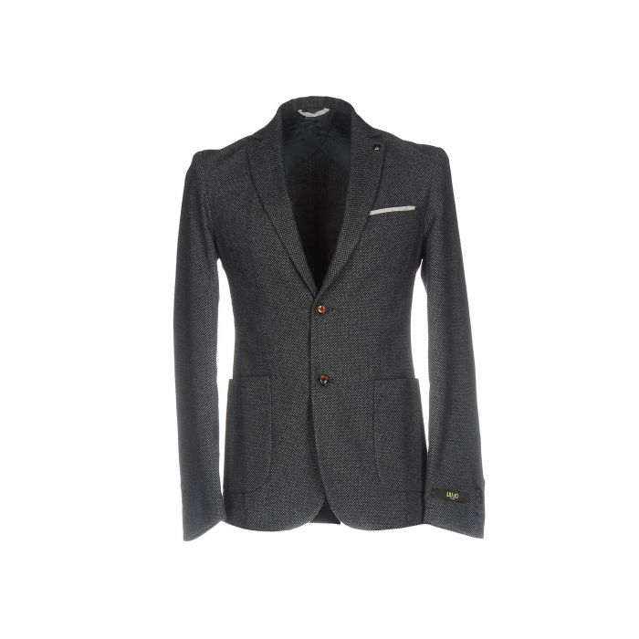 Image for Steel grey wool blend single-breasted blazer