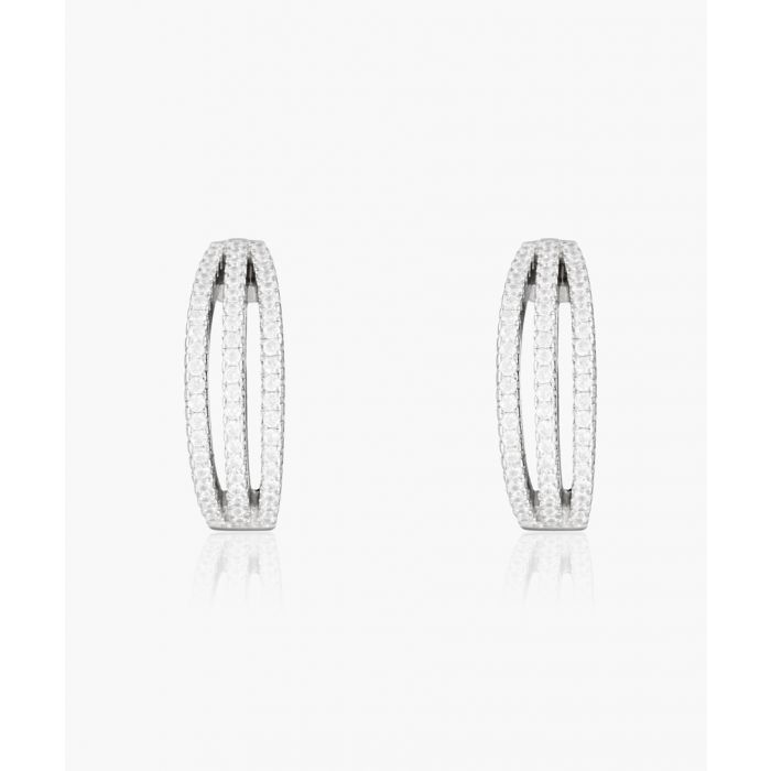 Image for Sparkling threesome silver-plated earrings