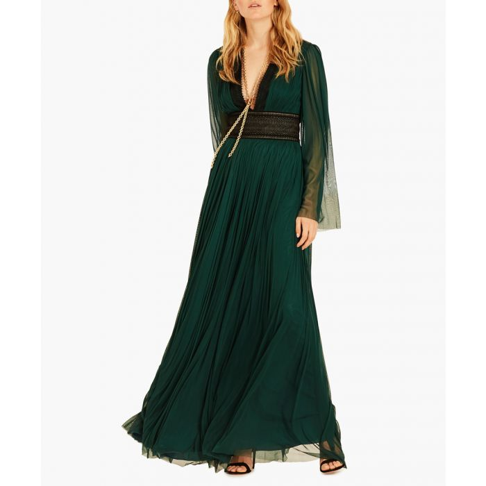 Image for Tourmaline silk maxi dress