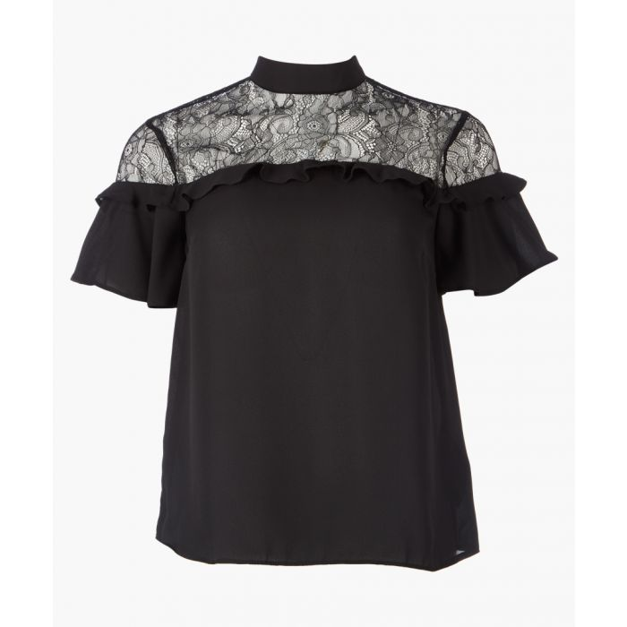 Image for Black lace insert top