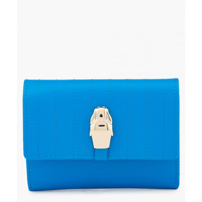 Image for Blue leather wallet