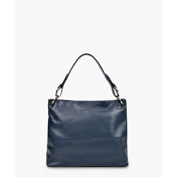 Image for Navy leather bag
