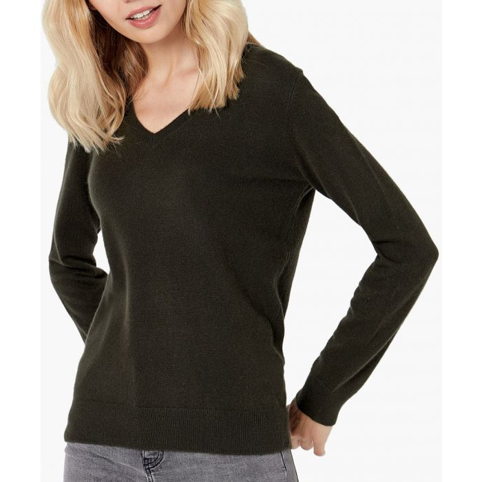 Image for Olive pure cashmere jumper