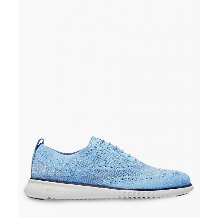 Image for Mens blue knit Oxford shoes