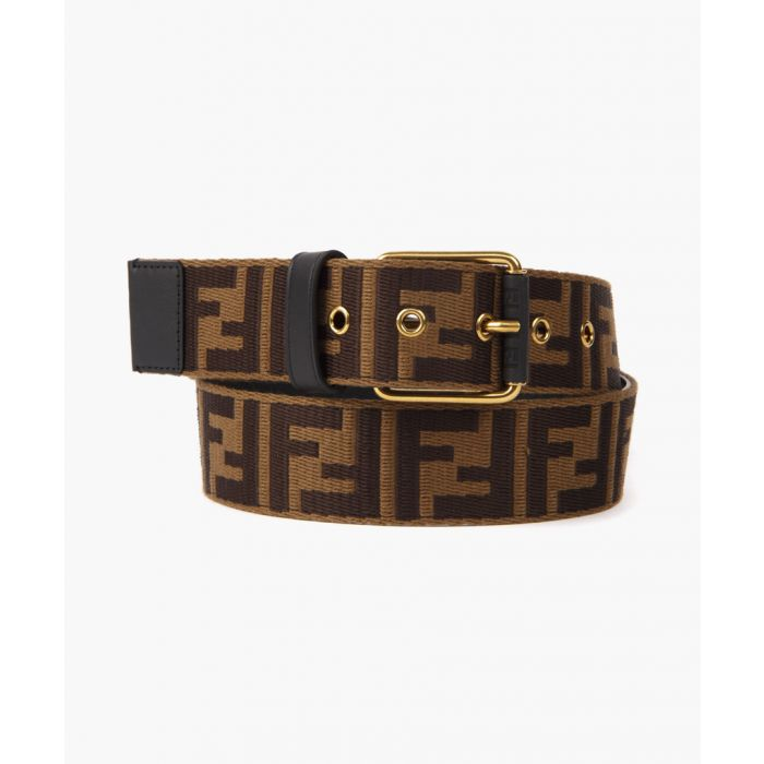 Image for Brown belt with embossed logo
