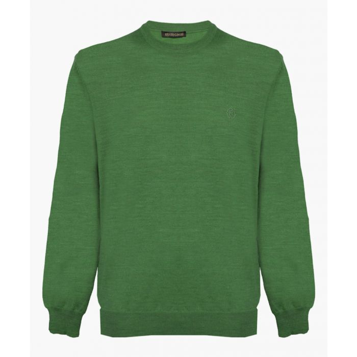 Image for Green pure wool jumper