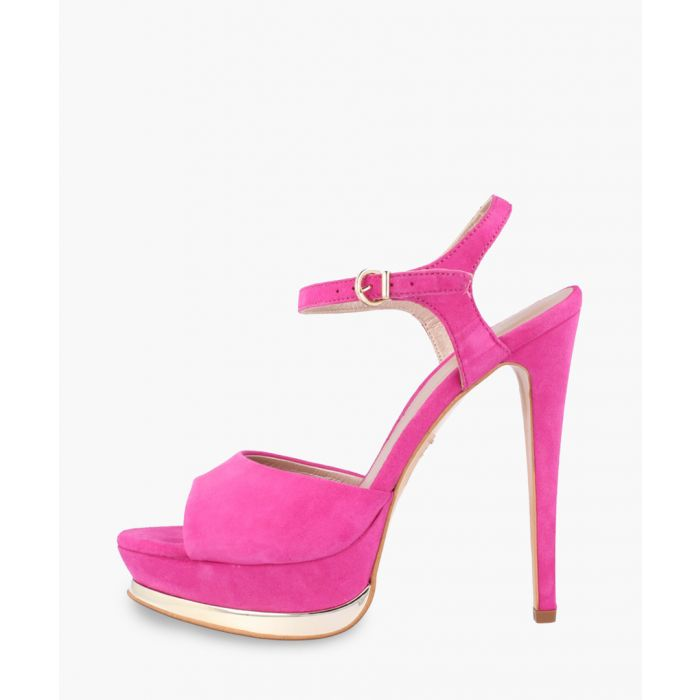 Image for Fuchsia leather heels