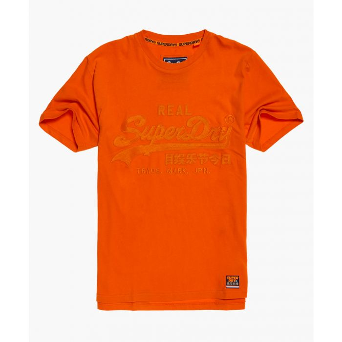 Image for Fit App orange pure cotton vintage logo T-shirt