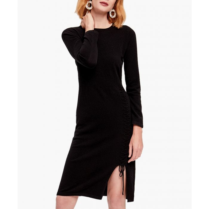 Image for Black pure cashmere dress