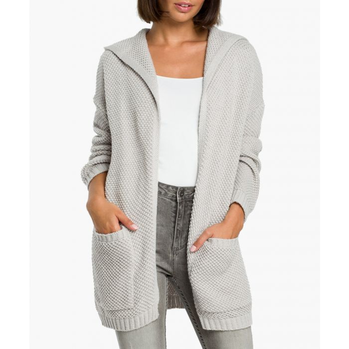 Image for Grey wool blend cardigan