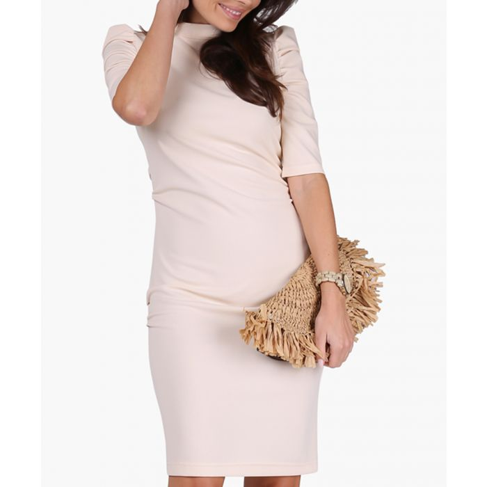 Image for Beige knitted dress