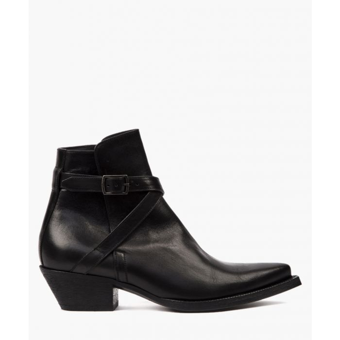 Image for Wyatt black leather ankle boots