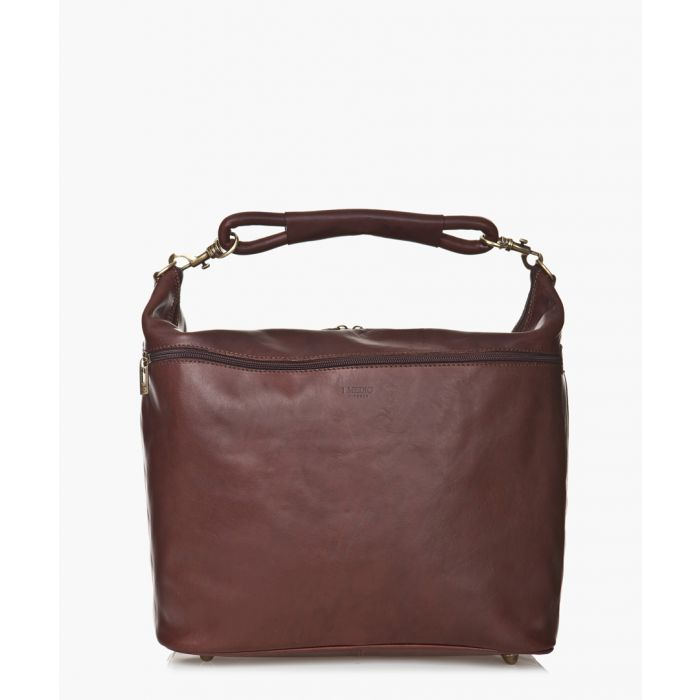 Image for Dark brown leather grab bag