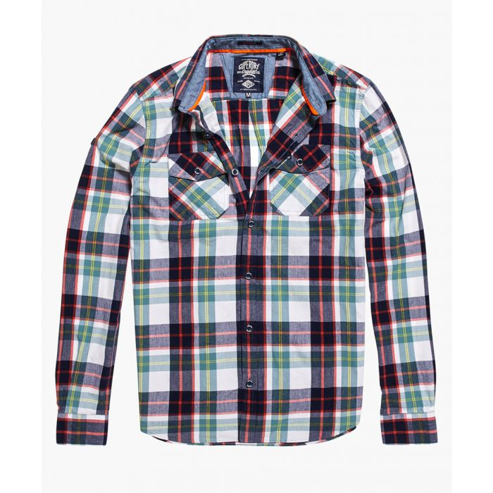 Image for Washbasket multi-coloured pure cotton tartan shirt