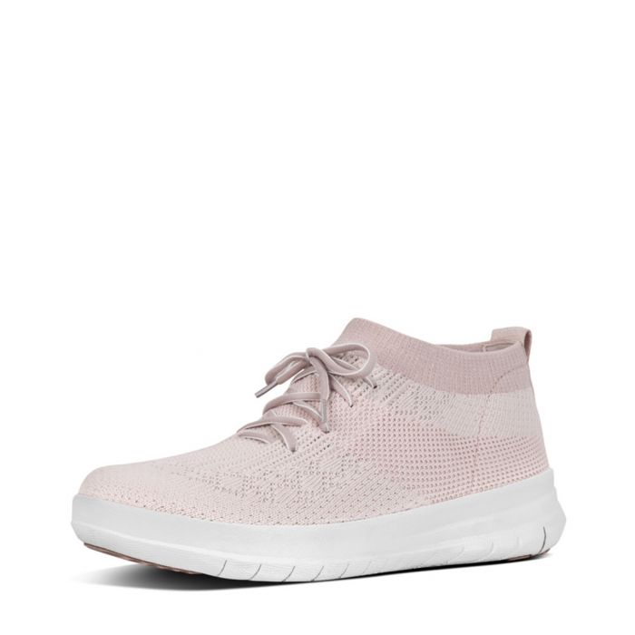 Image for Uberknit pink slip-on high top trainers