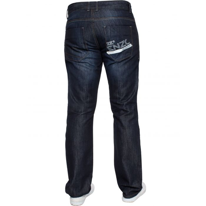 Image for Dark blue regular fit print jeans