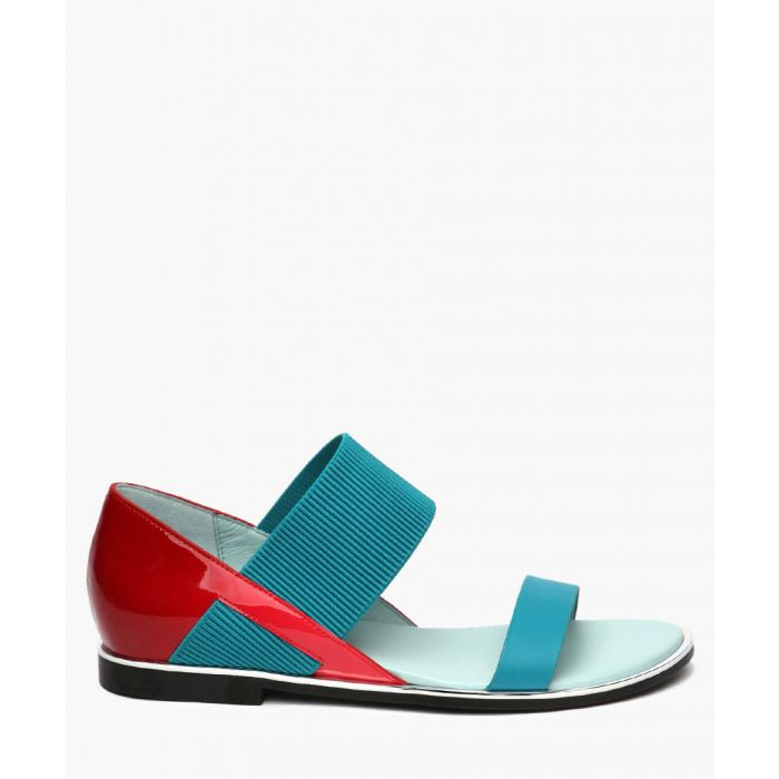 Image for Red patent leather sandals