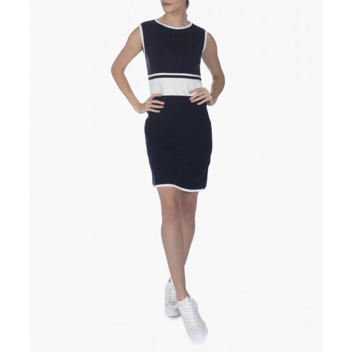 Image for navy pure cotton knit dress