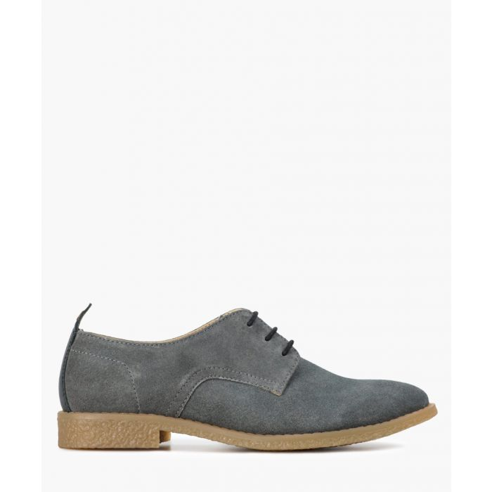 Image for Grey suede lace-up shoes