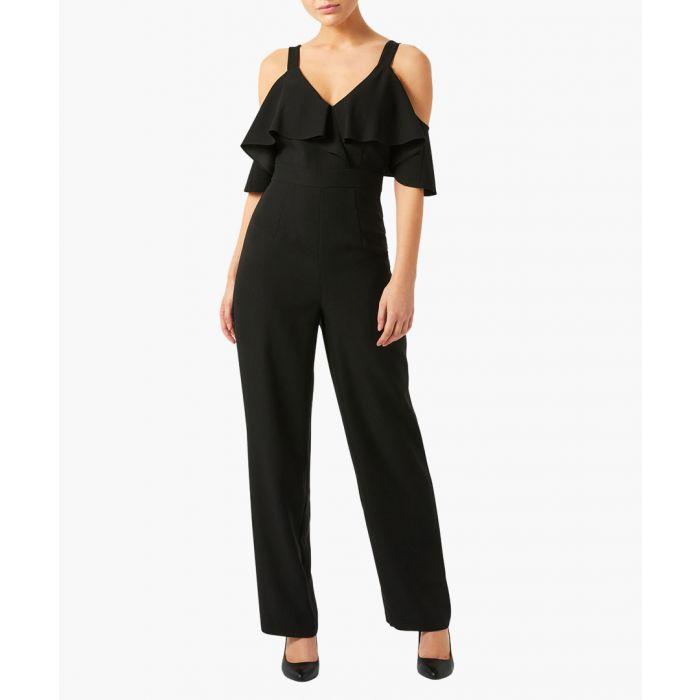 Image for Julieta black cold-shoulder jumpsuit