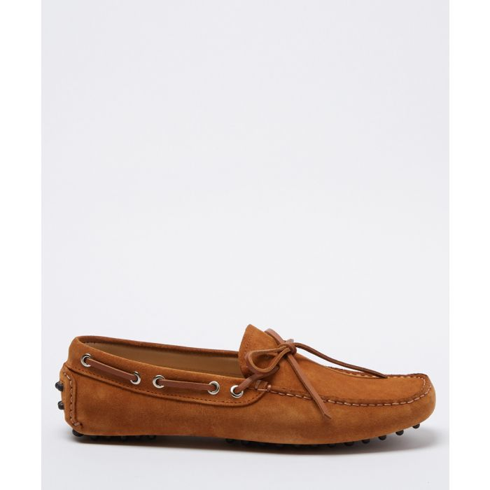 Image for Salazar tan brown suede loafers