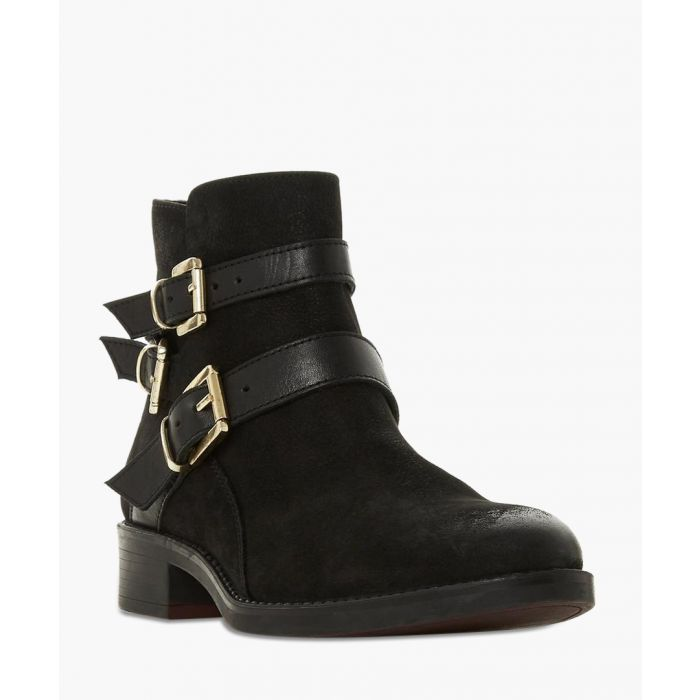 Image for Pheonixx black buckle ankle boots