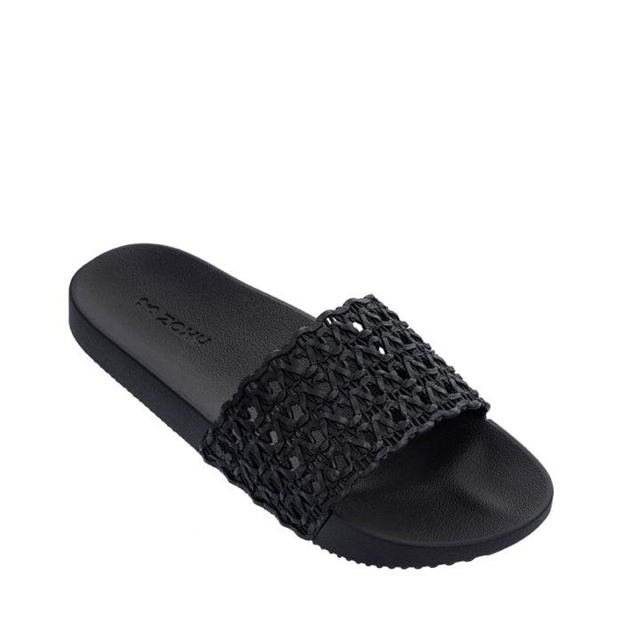 Image for Snap Mesh black woven slip-ons