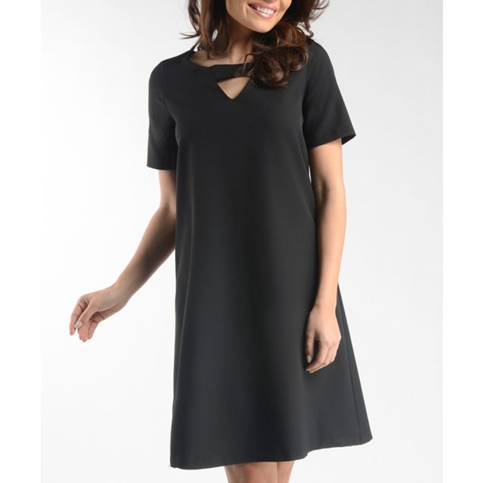 Image for Black cut-out short sleeved dress