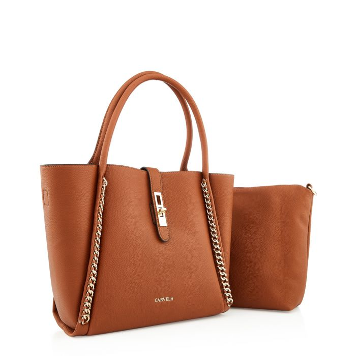 Image for Floss tan chain shoulder bag