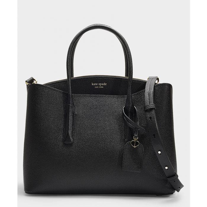 Image for Margaux Large black leather satchel