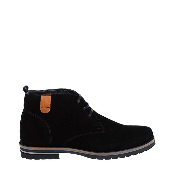 Image for Black suede chunky sole desert boots