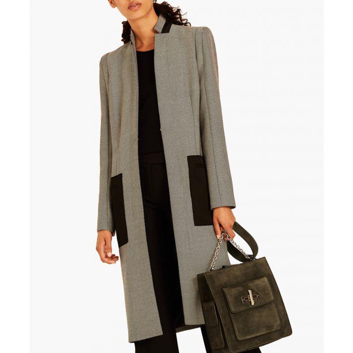Image for Pure wool herringbone coat