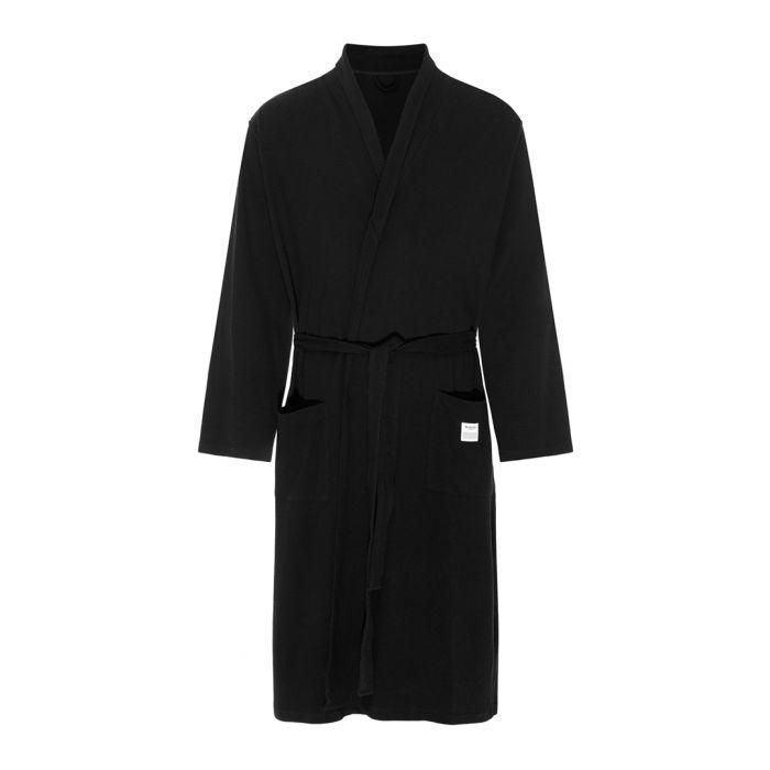 Image for Black pure cotton robe