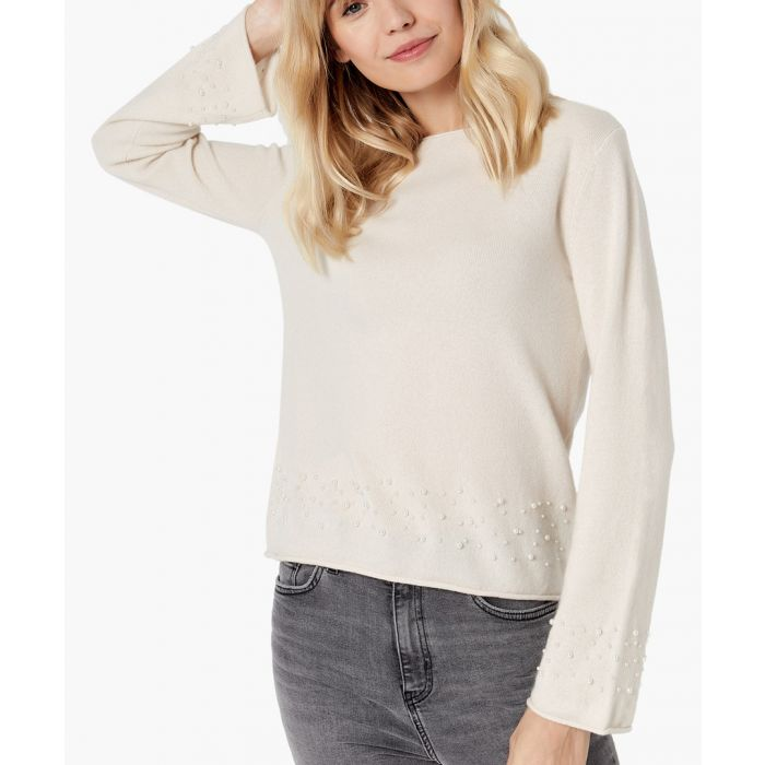 Image for Creamy white pure cashmere jumper