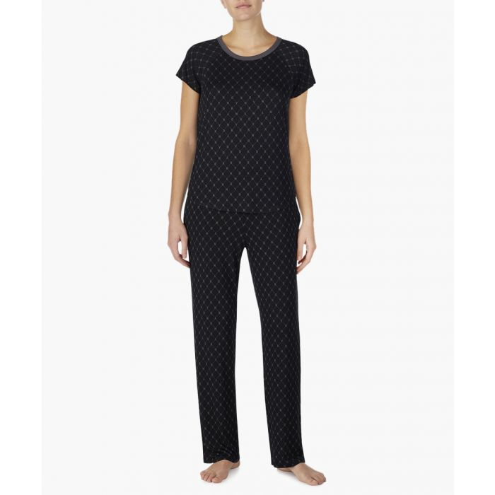 Image for Black print pyjama T-shirt