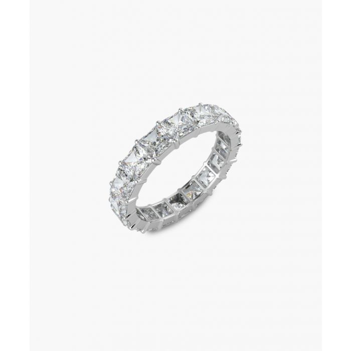 Image for Platinum and 4.00ct princess cut diamond full eternity ring