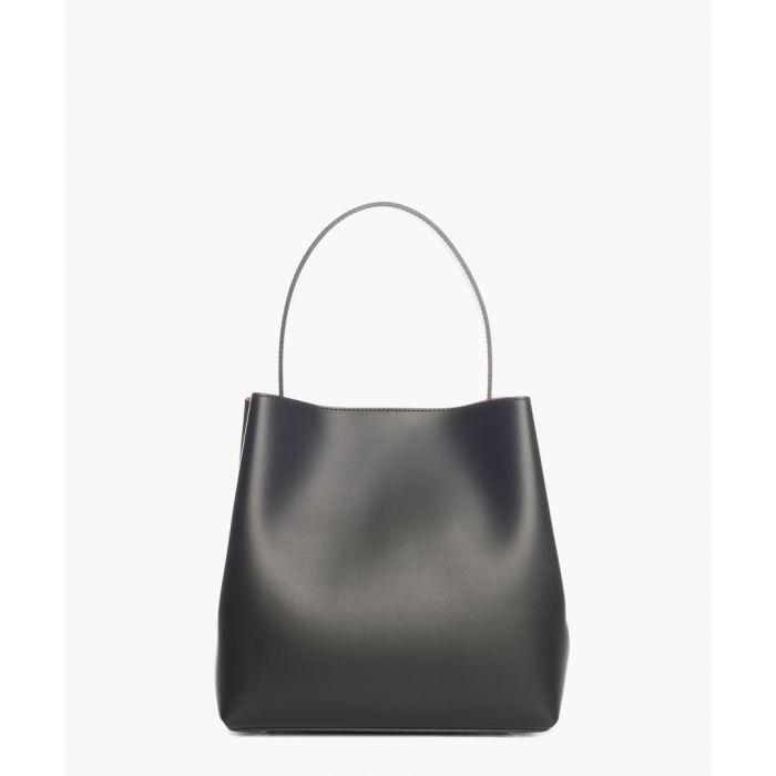 Image for Dordo black leather shopper