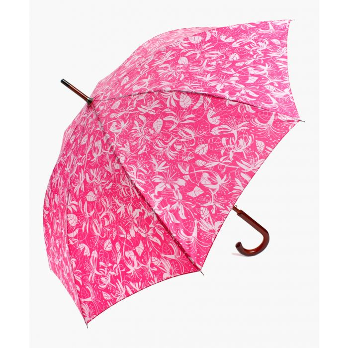 Image for Pink honey suckle printed umbrella