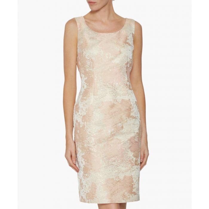 Image for Peach lanisa jacquard dress