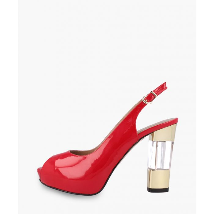 Image for Red leather heels