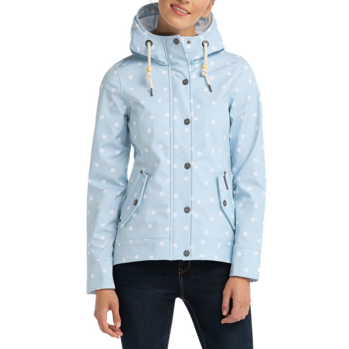 Image for Pastel blue dot print anorak