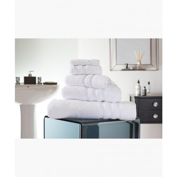 Image for White Turkish pima cotton bath sheet