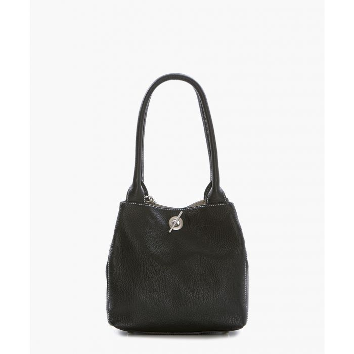 Image for Lilli black leather shoulder bag