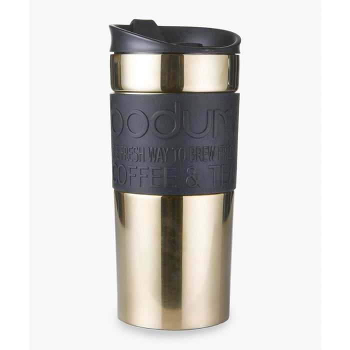 Image for Gold-tone stainless steel travel mug 12 oz