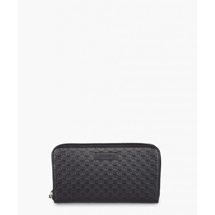 Image for Guccissima zipped black leather purse