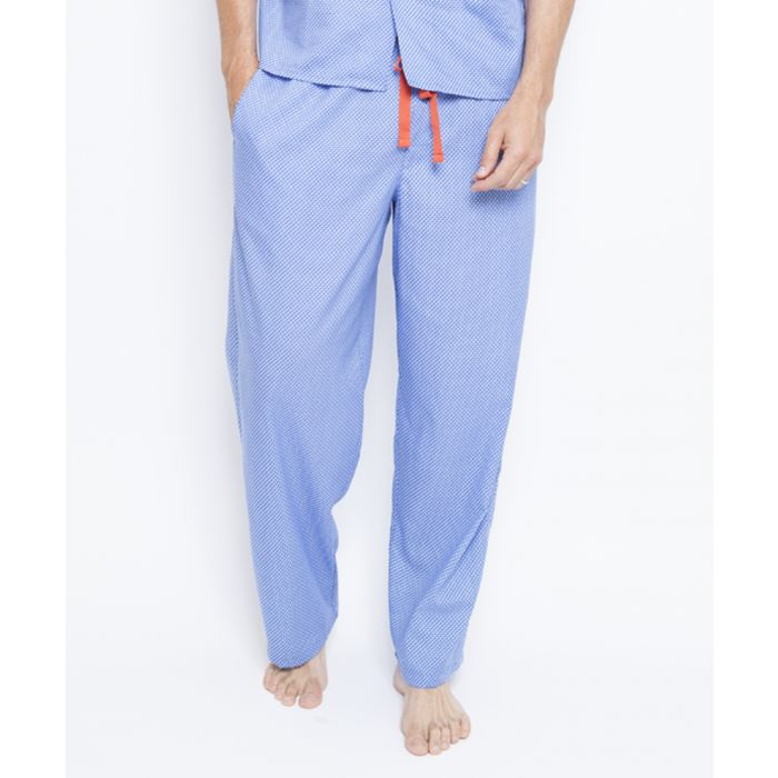 Image for Oscar blue cotton blend pyjama trousers